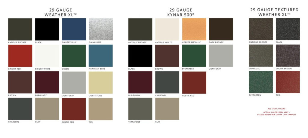 classic rib metal roofing color options